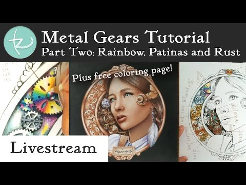 Live! Metal Coloring Tutorial Part 2: Rainbow Titanium, Rusty Steel, Copper Patina and more! thumbnail