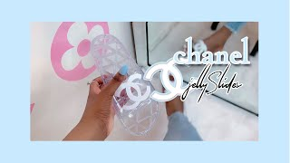 DESIGNER DIY💰✂️(1 MIN DIY) $1000 CHANEL JELLY SLIDES | KRISTENXJESSICA