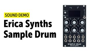 Erica Synths Sample Drum Sound Demo (no talking)
