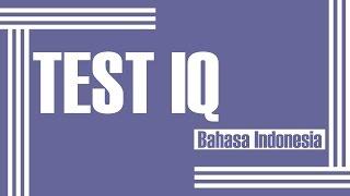 test iq part 1 indonesia