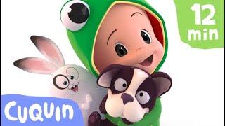 As poças do Cuquin 🐸  e mais vídeos educativos   Desenhos animados para bebês