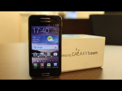 Samsung I8520 GALAXY Beam Projector Phone Unboxing