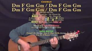 Love to Lay (The Weeknd) Guitar Lesson Chord Chart  - Gm F Eb Cm D