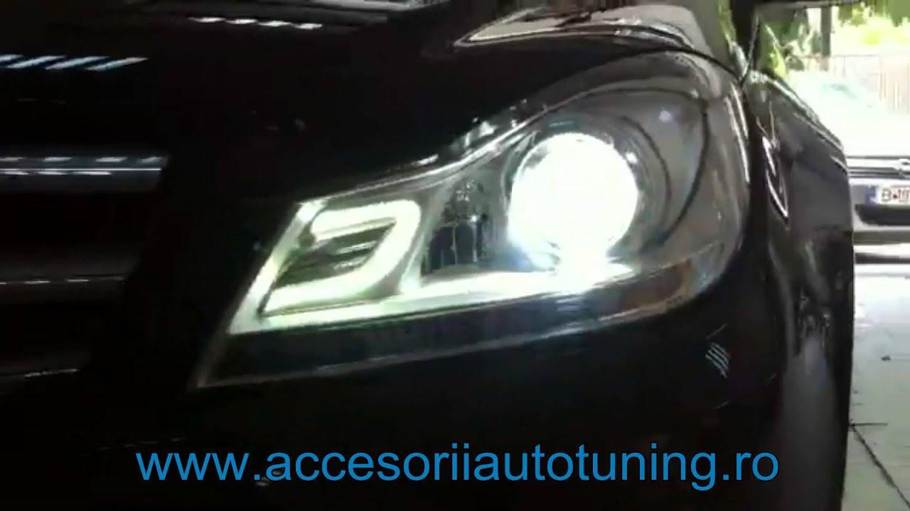 LED Headlights Mercedes W204 C-Class (2007-2012) by KITT