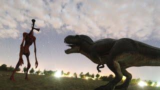 Siren Head Vs t rex Real Life Fight - A Short Film
