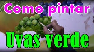 Como pintar uvas verde