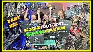 MASSIVE LOOT CRATE UNBOXING MARATHON PART SIX | Guru Reviews