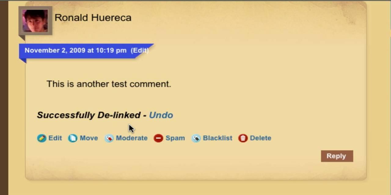 Ajax Edit Comments 3.0 Admin Options