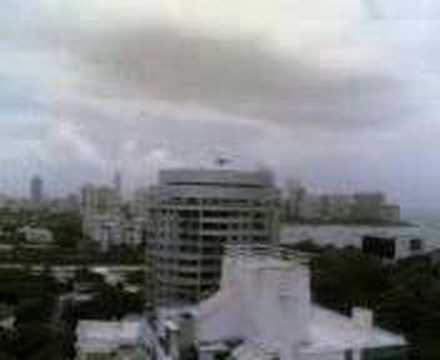 Helicopter lands on top mumbai building