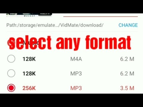 how to download mp3 songs from youtube with vidmate