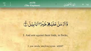 105 Surah Al Fil by Mishary Al Afasy iRecite