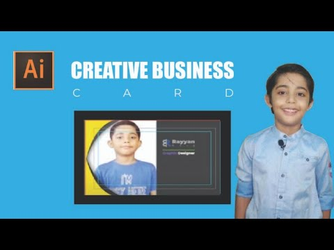 How To Design Creative Business Card In Illustrator 2020 With Two Different Colors URDU/HINDI