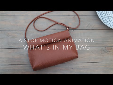 WHAT'S IN MY BAG - STOP MOTION | Shani Coles