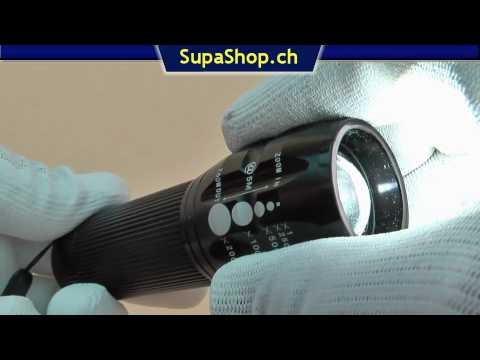 Led taschenlampe mit cree x lamp chip youtube
