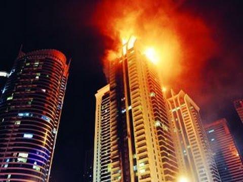 برج خليفة يحترق أعلى برج في العالم قبل دقائق من الآن