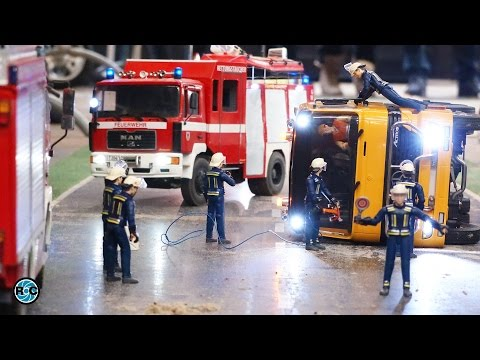 HORRIBLE RC TRUCK ACCIDENT🚨 RCEFF FIRE FIGHTER'S ACTION