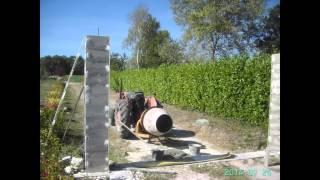 Construction portail pilier crépi pose portail sur pilier
