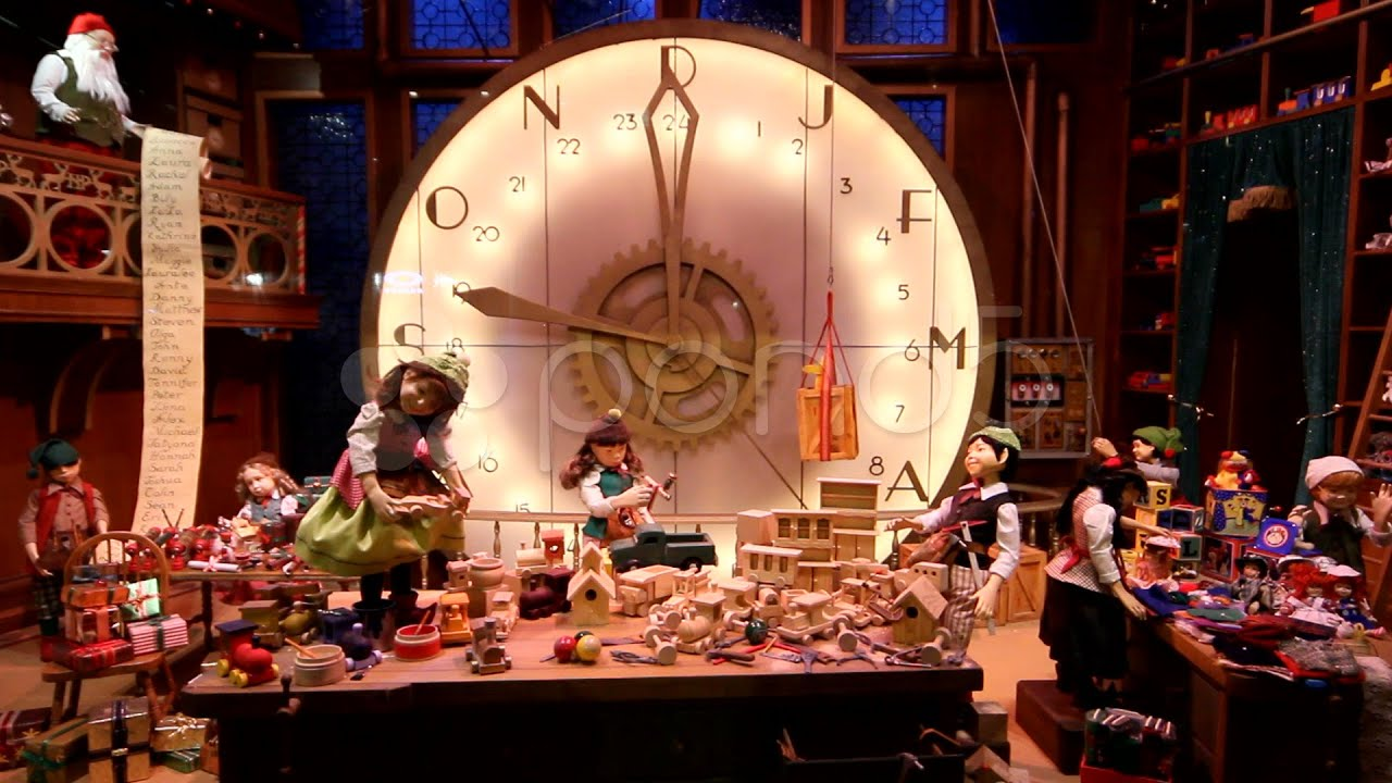 Christmas Toy Decoration Shopping Window Display stock ...