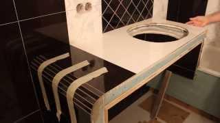 Укладка плитки на короб 3d ванны(Под коробом помещается стиральная машина,и отгораживается зона унитаза.3d http://remont.bz.ua/video/pano21.swf. Как положить..., 2014-02-07T20:41:29.000Z)