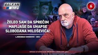 INTERVJU: Duci Simonović - Želeo sam da sprečim mafijaše da uhapse Slobodana Miloševića! (5.10.2018)