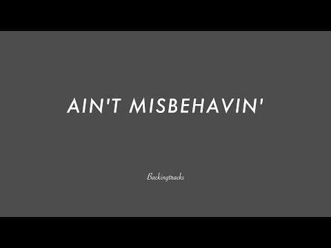 AIN'T MISBEHAVIN' chord progression - Backing Track (no piano)