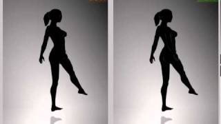 Improved 'solution' for spinning dancer girl illusion - alternating directions