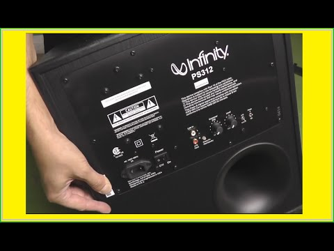 unboxing infinity ps312 powered subwoofer - youtube