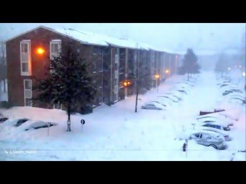 Snow Storm Jonas - TimeLapse -