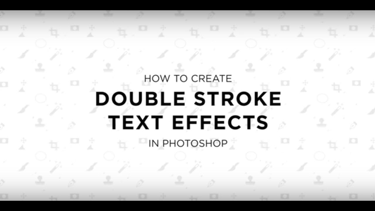 how to add stroke to text in photoshop