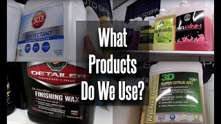 What Products Do We Use In Our Detailing Business?