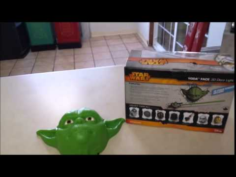 Star Wars, The Return Of Yoda And The Wall 3D Deco Lighting - Youtube