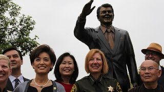 Ronald Reagan Statue Unveiling Ceremony at Mile Square Park, Orange County, California