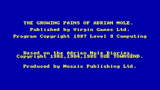 The Growing Pains Of Adrian Mole Review for the Amstrad CPC by John Gage