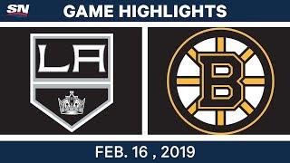 NHL Highlights | Bruins vs. Kings- Feb 16, 2019