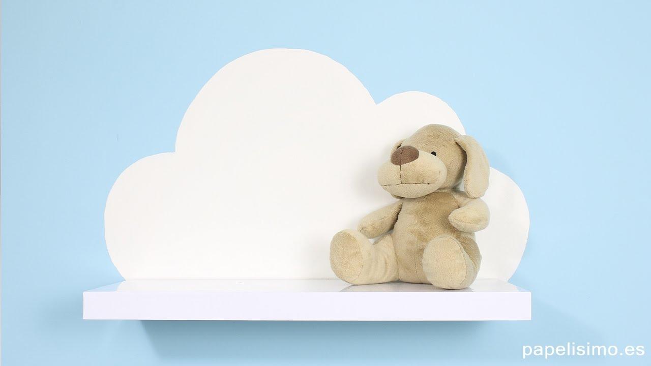 cmo hacer estanteras con forma de nube para decorar tu habitacin