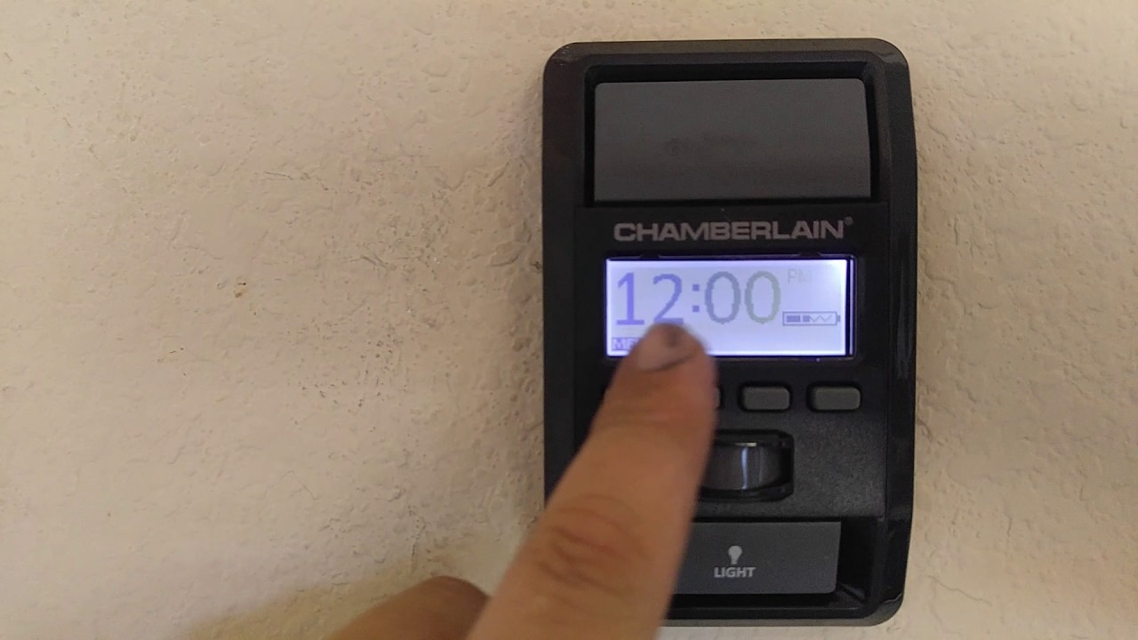 Chamberlain garage door opener setting the clock youtube chamberlain garage door opener setting the clock rubansaba