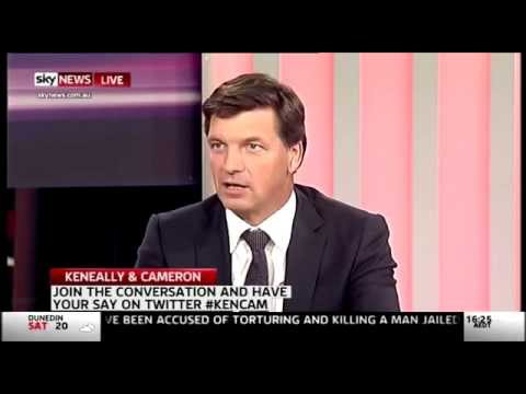 Feb 27 Angus Taylor on Keneally and Cameron on Sky TV