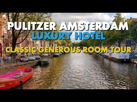 BEST HOTEL IN AMSTERDAM - Pulitzer Classic Generous Room Tour
