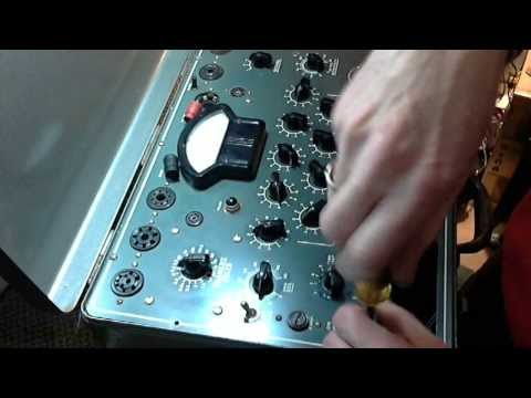 Weston Model 981 Type 3A Tubechecker Video #1 - Checkout