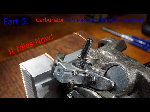 Part 6. DIY Internal Combustion Engine Made from Old Compressor - Carburetor from Pencil & Heatsink?