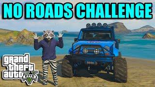 GTA 5 PC - No Roads Challenge - Modified Jeep Wrangler