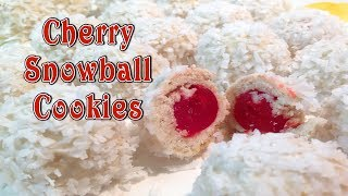Cherry Snowball Cookies