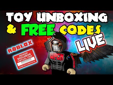 Free codes for Subscribers - ROBLOX LIVE STREAM