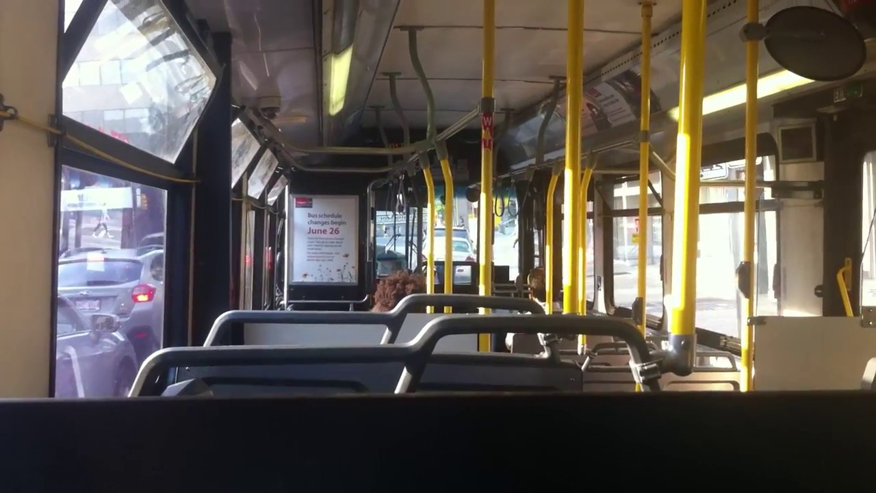 Bus Ride To Downtown Calgary 2008 New Flyer D40lfr On