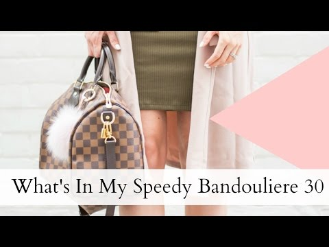 Louis Vuitton Speedy Bandouliere 30 + Samorga Bag Organizer   What's In My Bag   Joëlle Anello