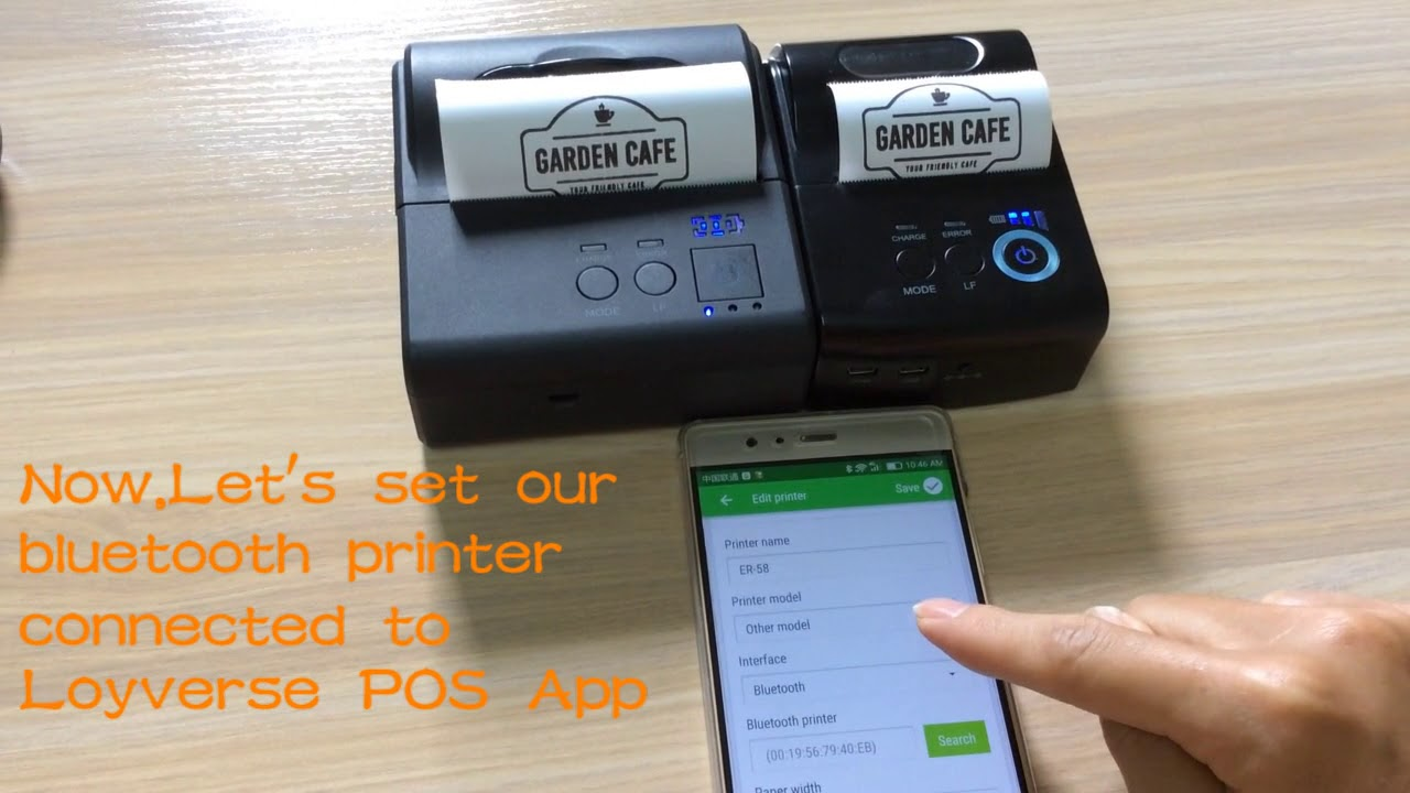 bluetooth printer work with Loyverse POS to print Logo and sales receipt