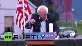USA: Sanders rallies supporters as decisive California primary looms