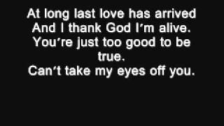 I love you baby Frank Sinatra lyrics wmv