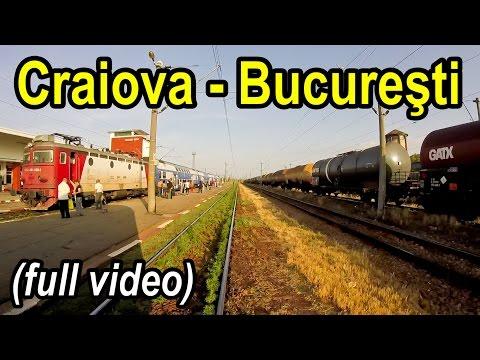 Craiova-Bucuresti full rearview-Trainride-Zugfahrt