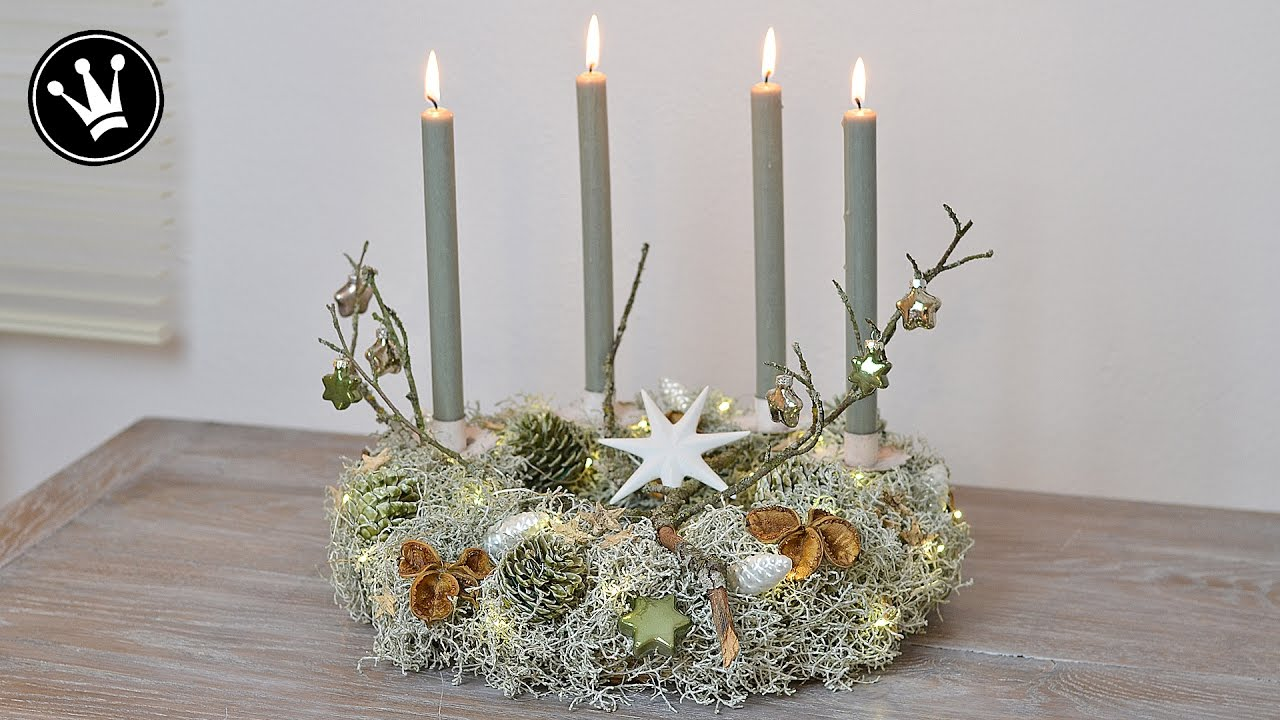 Diy adventskranz selber machen i stacheldrahtpflanze for Adventskranz selber machen youtube